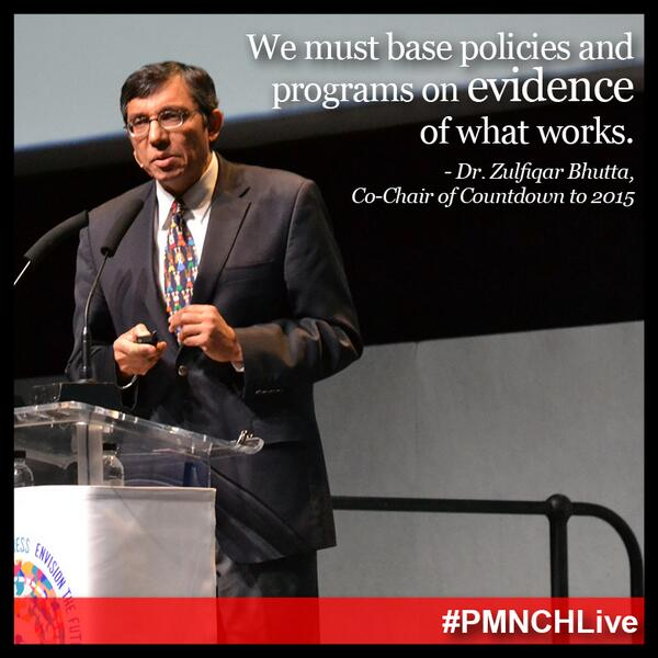 Data is power, and must drive decisions in building a #post2015 agenda that improves health outcomes. #PMNCHLive http://t.co/q3vLKMgrzc