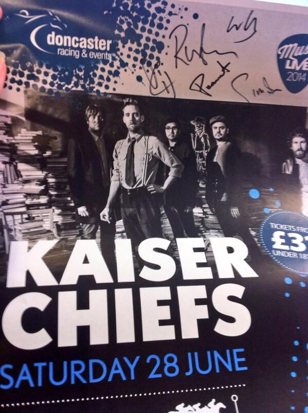 We have 10 @KaiserChiefs posters that @rickontour & the boys have kindly signed, RT for chance to win!! Ends 8pm 1.07 http://t.co/XLl7li43zq