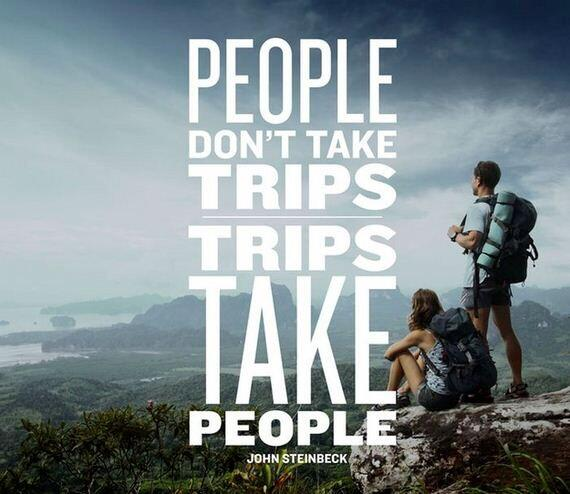 """People don't take trips, trips take people"""" that's what travel is supposed to do! #travel #travelquotes#wanderlust http://t.co/d63vH6GNVm"""