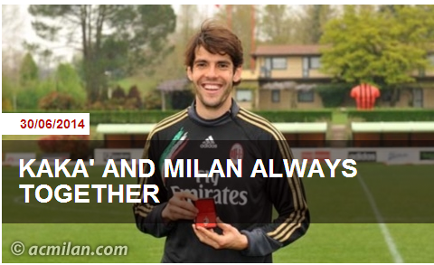 AC Milan confirm Ricky Kakas exit with classically emotional and heartfelt goodbye message