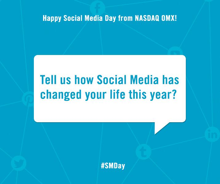Twitter / NASDAQOMX: Happy Social Media Day from ...