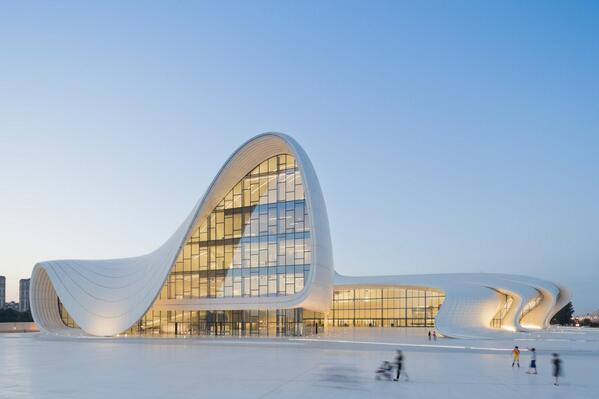 Congratulations to the #DesignsoftheYear 2014 winner: HEYDAR ALIYEV CENTER by Zaha Hadid Architects @ZHA_News http://t.co/5QEYLlCTkd