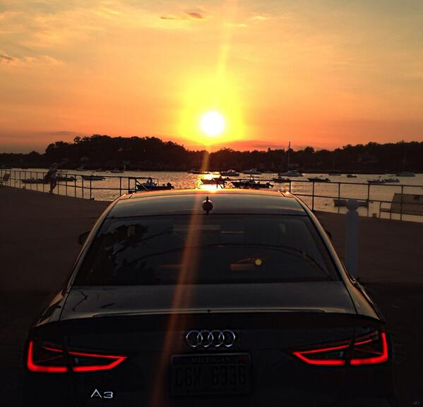 Audi On Twitter That Sunset Isnt Bad Either MT CarolineRosato - Sunset audi