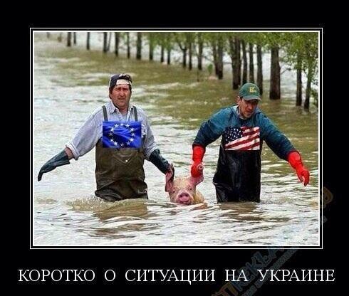 Америка и Европа спасают Украину....
