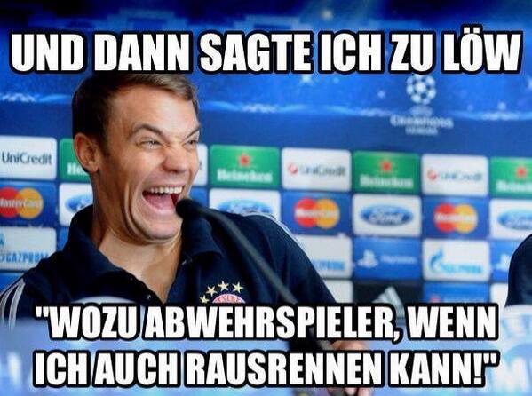 Manuel Neuer. Libero.