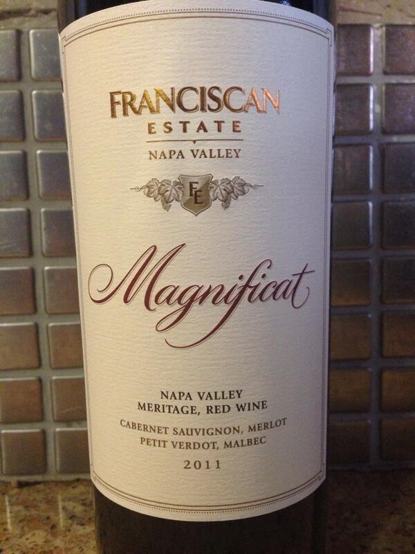 The 2011 Franciscan Magnificat is a nice wine and attractively priced. #WITS2014 http://t.co/Dohd0GgoKl