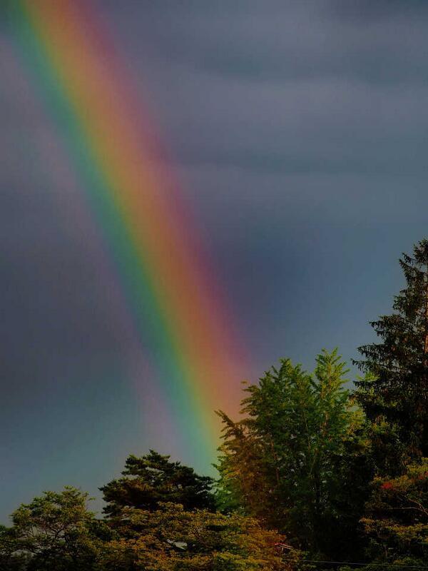 虹までの距離