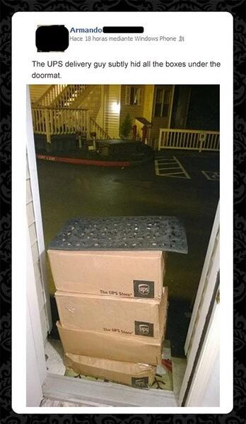 「英國UPS員工被要求:如果主人不在家的話,要儘量隱藏包裹」 #我快不行了 http://t.co/3xp4FoGDnF