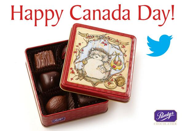 In celebration of #CanadaDay follow @PurdysChocolate & RT to WIN!  5 lucky fans will win a Hedgehog Tin. http://t.co/OZpcY8U5C5