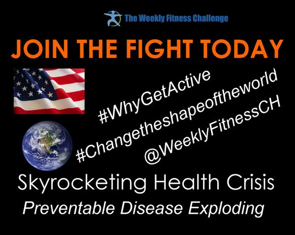 Why #Changetheshapeoftheworld #WhyGetActive - Because the world is getting unhealthier every day! JOIN US! http://t.co/wxwnPodk8A