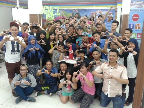 Para NIC menunjukkan cinta mereka pada Agnez/Twitter©