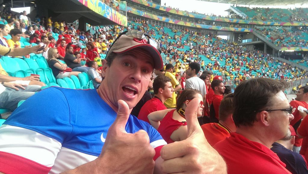 Twitter / ChrisCuomo: At the game-- AmeriCAN in enemy ...