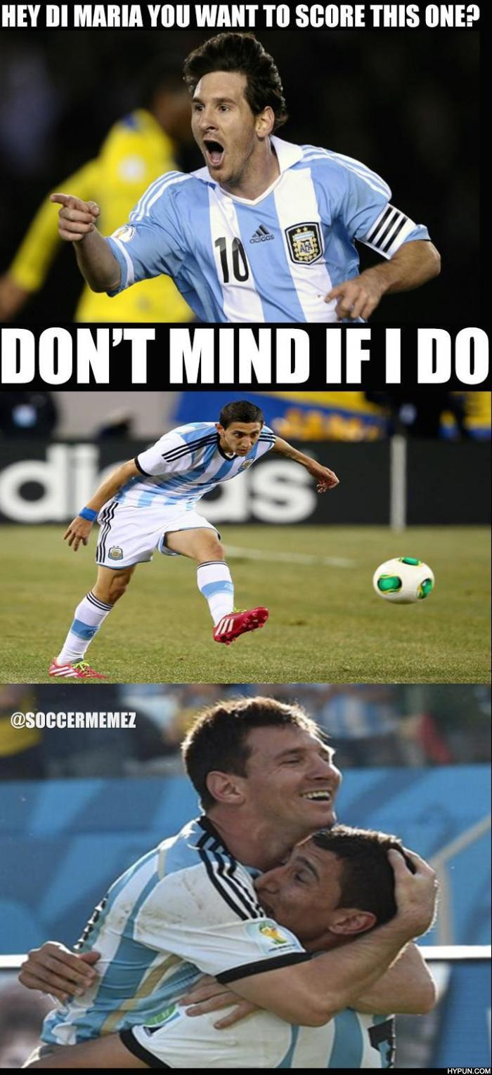 soccer memes on twitter quotdi maria gets assisted by messi