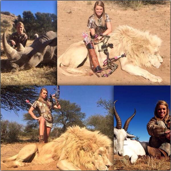 #KendallJones you are an absolute disgrace. Murdering endangered animals is not a sport! http://t.co/diNQwXI79u BURN IN HELL!