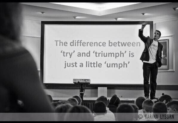 Watching Ron Clarke @ronclarkacademy reminded me that we all need a little umph! #ISTE2014 http://t.co/PZVFQEvTlQ