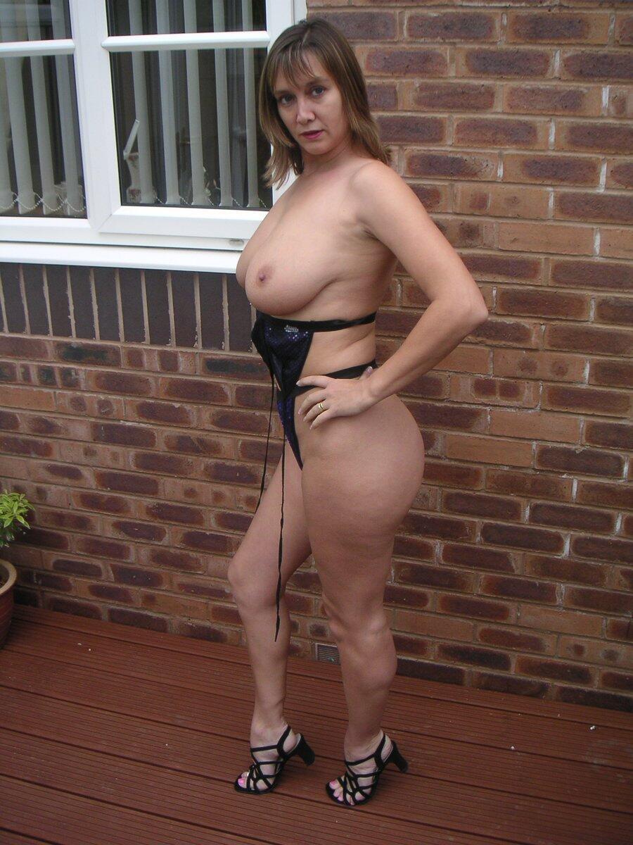 Big tits high heels