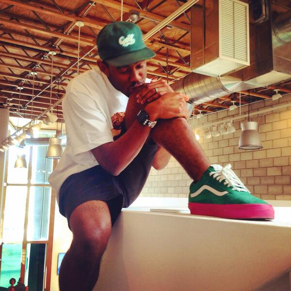 i can't put up the pic T posted but here's 1 of the golf wang x vans shoes coming out 7.18... http://t.co/N8FsPxQOAN