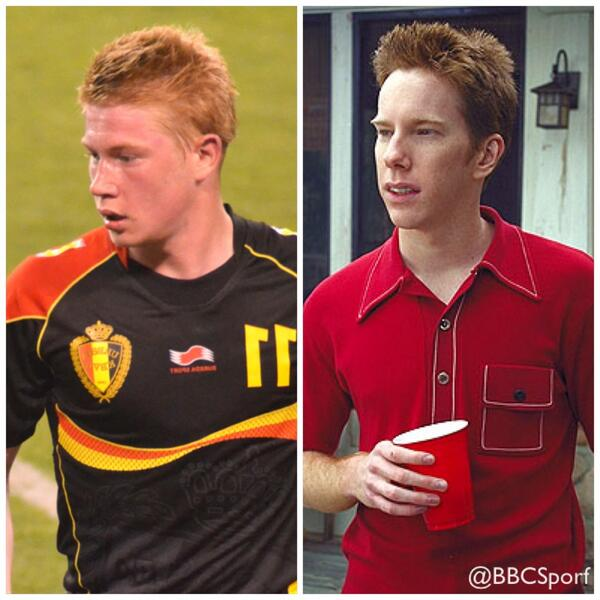 """@BBCSporf: FACT: Kevin De Bruyne played the role of The Sherminator in American Pie. http://t.co/jjnh6T6uBQ"" ha ha ha!"