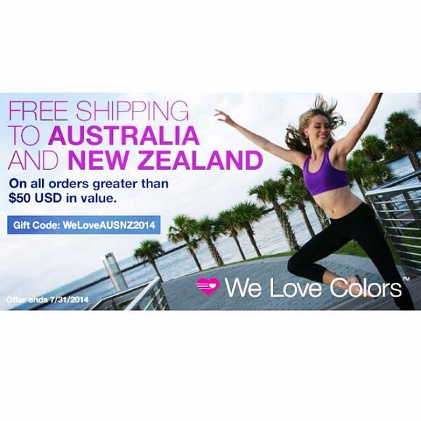 It's official! Our #freeshipping on all Australia & New Zealand orders over $50 is back. Take advantage of it! #sale http://t.co/taXZ1JDi2t