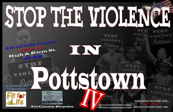 Stop the #Violence will join the #Mercury Mile in the #4thofJuly Parade 10:15 a.m. Friday in #Pottstown #Mercfit http://t.co/8SIGo29S3e