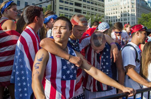 D.C. fans react to USA's World Cup loss http://t.co/QsElmNBLAg http://t.co/o8Ozvttom5
