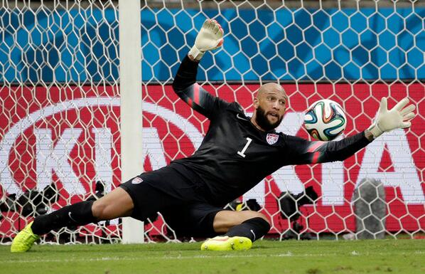 Tim Howard's 16 saves were the most in a World Cup game since 1966 http://t.co/bkmI3FKSWY (Photo: Felipe Dana/AP) http://t.co/OH6U7BXCd5