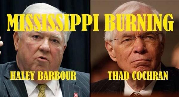 Haley Barbour behind racist anti-Tea Party Cochran Ads (Video)