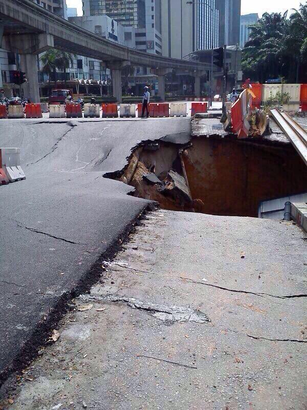 Kejadian Terowong Mendap Di Jalan Imbi