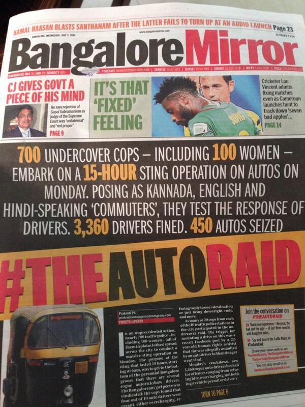 What a fab fab move #theautoraid #bangalore bravo http://t.co/oCg2pX0Erq