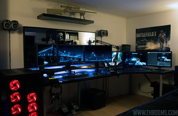 gaming setups gamingsetuppics twitter. Black Bedroom Furniture Sets. Home Design Ideas