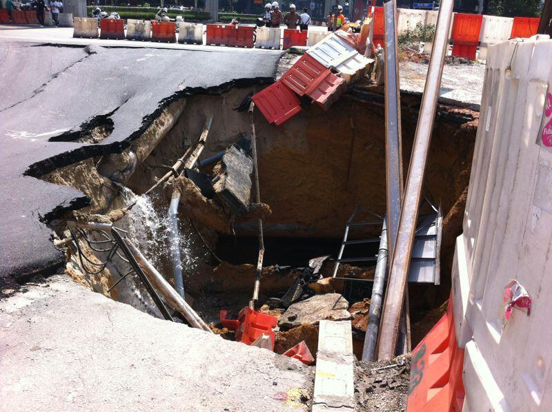 Kejadian Terowong Mendap Di Jalan Imbi/jalan pudu
