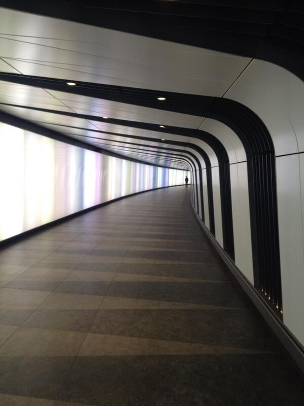This, amazingly, is the newest bit of King's Cross tube station. You can still smell the fresh concrete. http://t.co/GKJcfN05r4