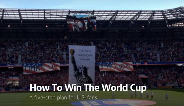 Interested in growing US Soccer? @will_kuhns has a great 5 step plan https://t.co/fdL5lCT5yY http://t.co/oeq7YuaLWF