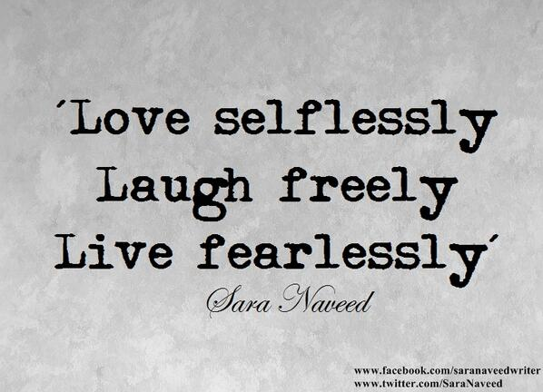 To love selflessly