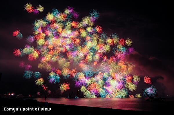 三重が誇る熊野花火大会(2012年)の写真を再現像。今年も8月17日に開催されます。「行ってみたい!」と思っていただけたらぜひ拡散をお願いします! http://t.co/IRI0eAbm27