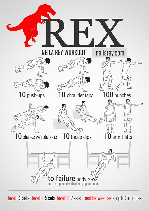 """DAREBEE on Twitter: """"REX / Strong & Toned Arms Workout ..."""