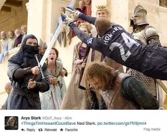 YESSS #ThingsTimHowardCouldSave RT @ClayTravisBGID: This wins. RT @thejameywood: They keep getting better. http://t.co/g3XhbRdUY8