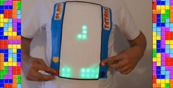 """""""@CreatorsProject: And now you can play Tetris on your shirt. http://t.co/fhxfOrUu3B http://t.co/gTazt3LzUW""""  The only wearable you need."""
