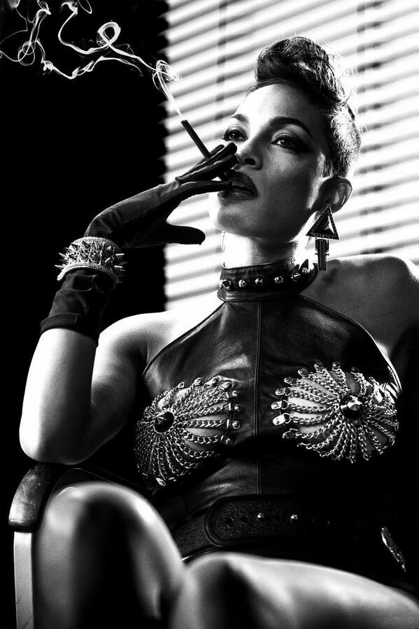 Check out a brand new image of @RosarioDawson from #FrankMiller's #SinCityADameToKillFor, in theaters 8/22/14! http://t.co/z5BBCaSQe9