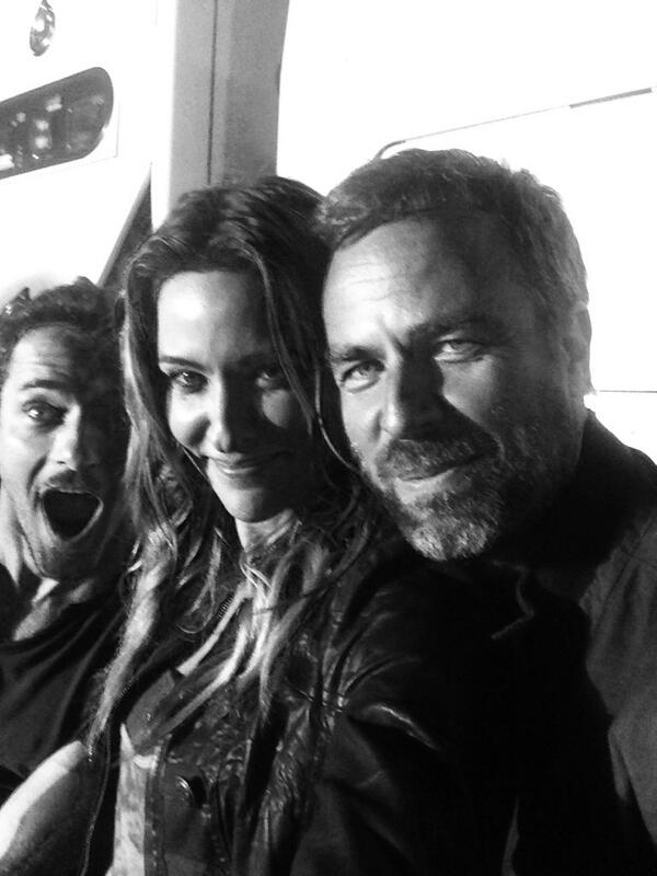 One of us is very happy to be done filming. @IanBohen @iamjrbourne #mtvteenwolf http://t.co/KoihMqcxOG