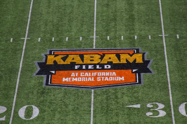 It's official! The logo for Kabam Field is sewn in and ready to go at California Memorial Stadium. Go Bears! http://t.co/XqKRElJtJe