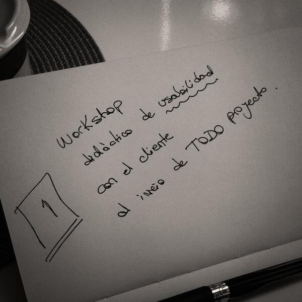 Workshop didáctico de usabilidad con el cliente al inicio de todo proyecto