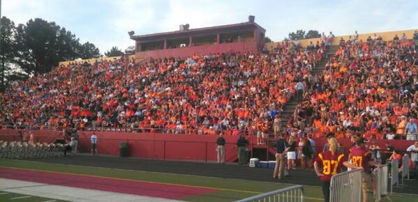 So many remembering Auburn's Philip Lutzenkirchen at his memorial at Lassiter High School in Marietta, Ga. http://t.co/FVb52Y8Xwn