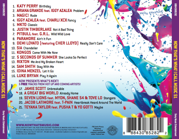 now thats what i call music 2014 tracklist