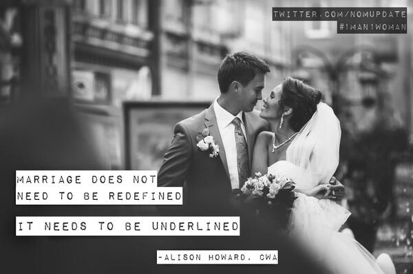 #Marriage does not need to be redefined, it needs to be underlined. Retweet if you agree! http://t.co/UQKuEWocZS