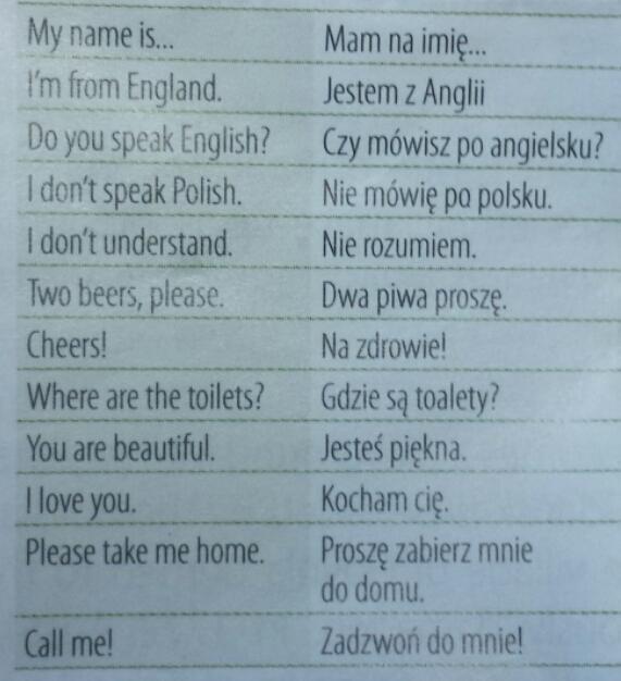 Flirt po polsku.