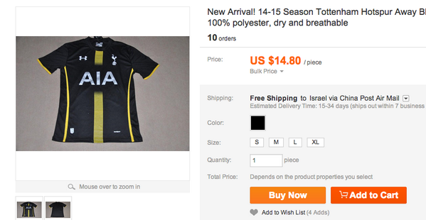 Leaked! New Spurs 2014/2015 kits appear for sale online [Pictures]
