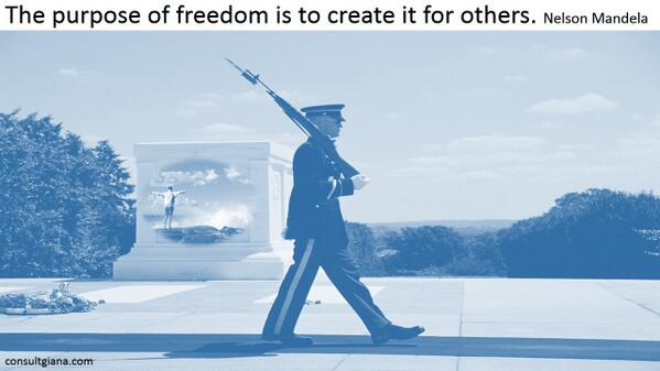 """""""The purpose of #freedom is to create it for others.""""  N. Mandela   http://t.co/Noa6DQ21Nr http://t.co/db2dmJptNn"""