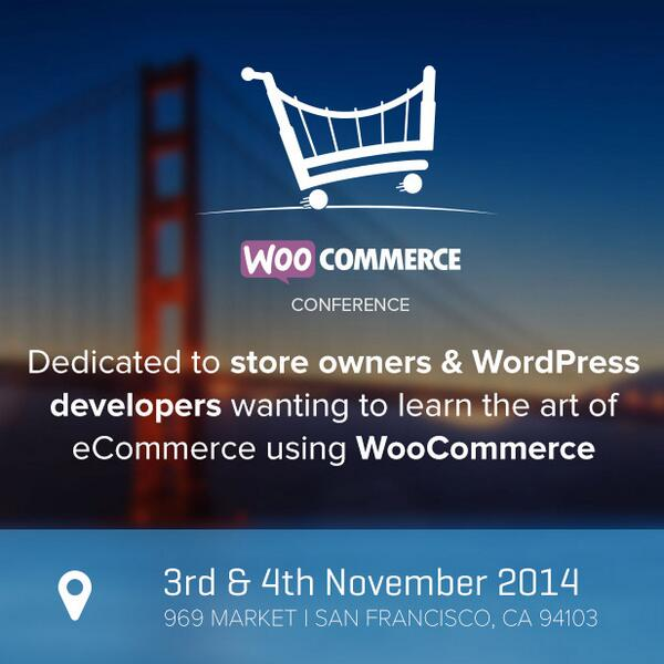 We're proud to announce the 1st WooCommerce Conference, this November in SF. More at http://t.co/o7uVF56U96 #wooconf http://t.co/DgmxVnYiQj