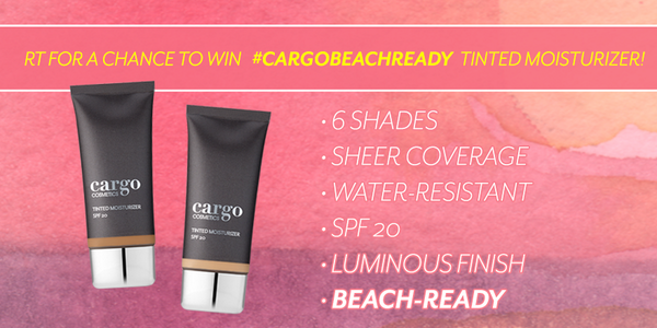 Our #CargoBeachReady giveaway is almost over! RT to WIN our Tinted Moisturizer in your shade... http://t.co/NO26Moxt7y